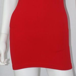 NEW Red Tank Tunic Mini Dress Sz OSFM
